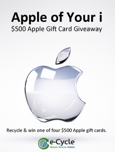 Win A $500 Apple Gift Card With e-Cycle's Apple of Your i